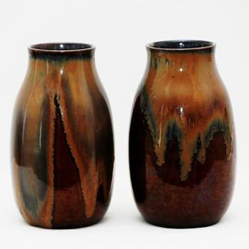 Two Large Vases, probably Bürgeler Kunstkeramische Werkstätte (Germany), ca. 1920 - Pottery