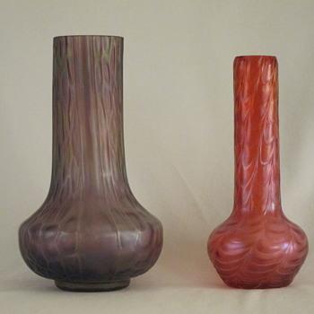 A Kralik Kranberry and a Plum Plum 8) - Art Glass
