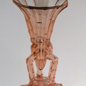Art Deco glass vase, possibly made in Poland in 1930 - Art Deco
