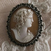Antique Shell Cameo of Bacchante or Ariadne Crowned in Ivy