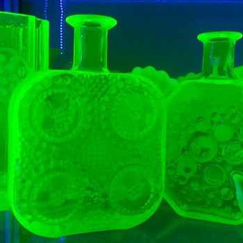 Scandinavian Uranium glass from my collection I love the citrine colour of this glass