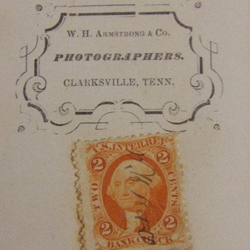 CDV of Woman from Clarksville, TN with tax stamp