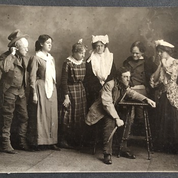 Antique Drama Ensemble Photograph? Finley Studio Chicago - Large Format - Photographs