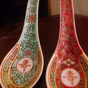 Chinese antique spoons - Asian