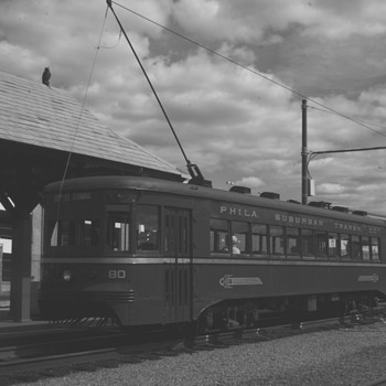 Philadelphia Suburban Transit Company Trolley - Railroadiana
