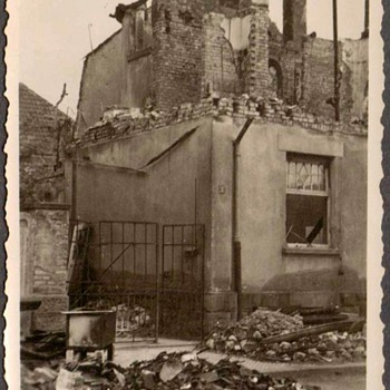 1944 - Family Photo - Mom's Home after Allied Bombing - Photographs