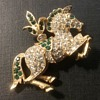 Napier carousel horse brooch