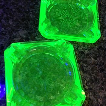 Depression Ashtrays - Glassware