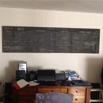 8 ft long military chalkboard - Military and Wartime