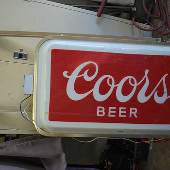 Commercial Outdoor Lighted Coors sign