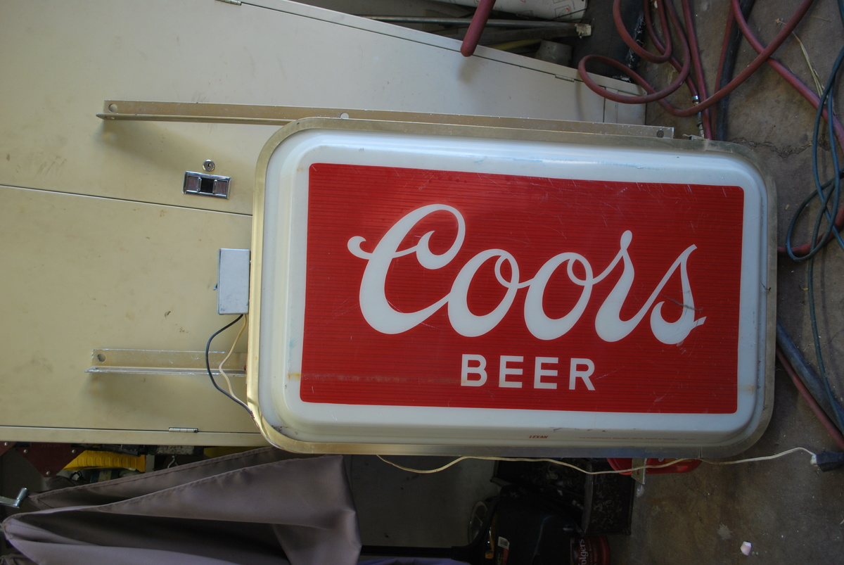 Commercial Outdoor Lighted Coors sign | Collectors Weekly