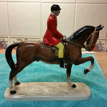 Hertwig horse and rider - Figurines