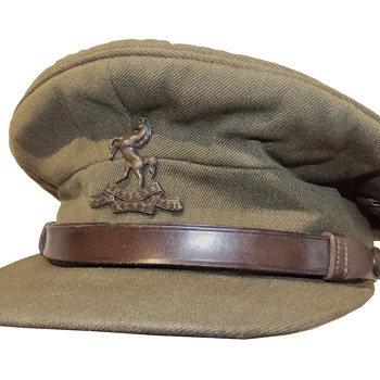 King's Crown Royal West Kent Officer's service visor cap - Military and Wartime