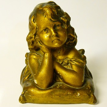 "Post 4 of 5- Young Girl Dreaming""Plaster Bust""Circa1930-40 - Fine Art"