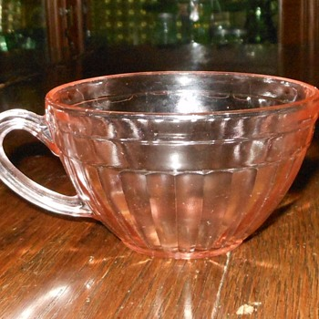 Dpression Glass Cup Aurora Pattern Plus Old Colony Saucer