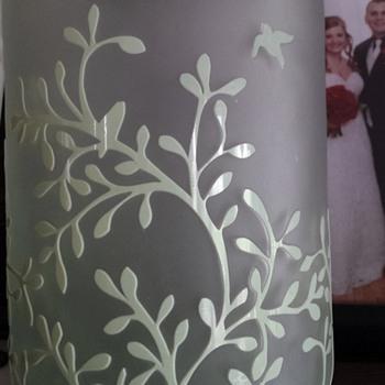 cameo glass satin vase - Art Glass