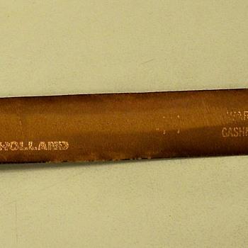 Vintage Belt Made of  Sea Lion Skin.  An Exotic Skin & Oddity.