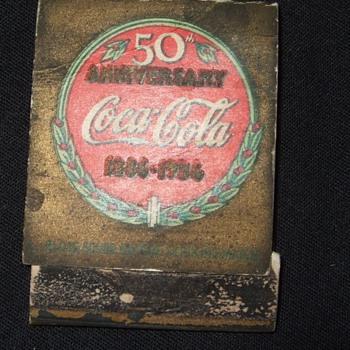 1936 coca cola matchbook