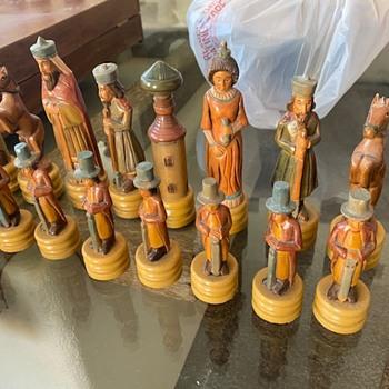 Handmade wood rare chess set  - Games