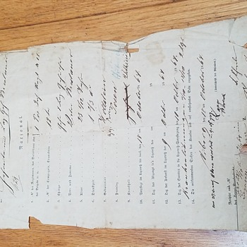 1864 German military document - what is it? - Paper