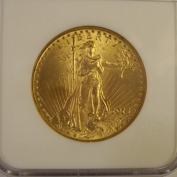 "$20 U.S. Gold Saint Gaudens Double eagles 1914-D & 1915-S ""With Motto"""