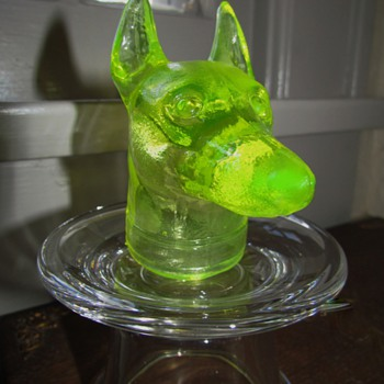 Doberman Pinscher Dog & Lab or Retriever Dog - Boyd's Glass - Animals
