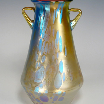 Loetz Phen Genre 299 with handles - Art Glass