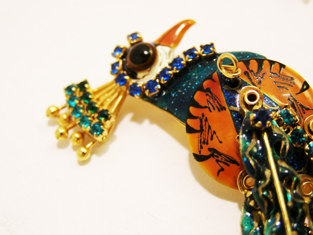 eb475983cd817 Vintage Lunch at the Ritz Peacock Earrings   Collectors Weekly