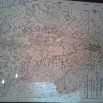 Antique 26th national encampment map
