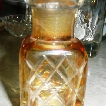 """2 1/2"""" Amber Square Bottle - Bottles"""