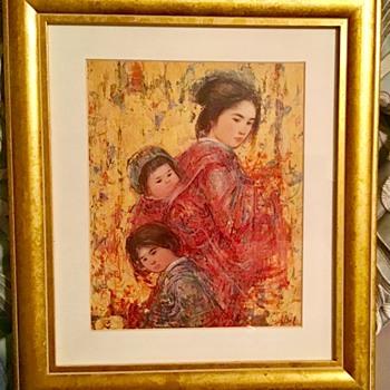 Edna Hibel signed print - Posters and Prints