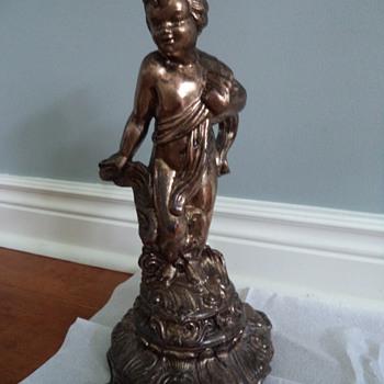 Brass Figurine Desk Lamp!? - Lamps