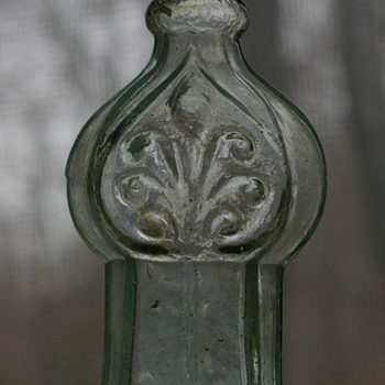Antique Glass Whimsie With Scroll Design - Bottles