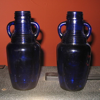 A pair of blue bottles - Bottles
