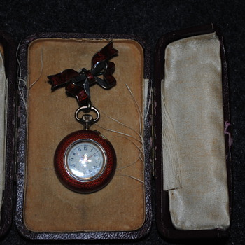 Enamel Watch Pin - Victorian Era