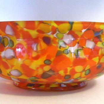 Czech large Bowl ----> ( PART I of II ) - Art Glass