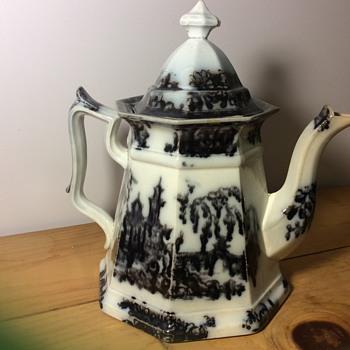 Teapot Brown Transferware ?  - China and Dinnerware