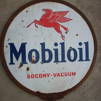 Mobil Oil Lollipop Sign - Petroliana