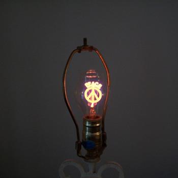 Peace Sign Light Bulb