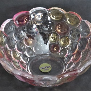 Soga Glass Pink dots bowl - Glassware