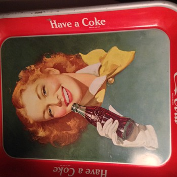1950-52 coca cola tray - Coca-Cola