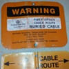 found myself another TELCO 'buried cable' warning sign(s)!