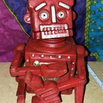 Hubley Robert The Robot Cast Iron Bank - Toys