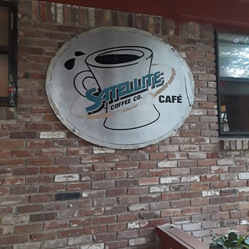 "SATELLITE COFFEE CO. & CAFE' sign, now officially ""wall art"" instead - Signs"
