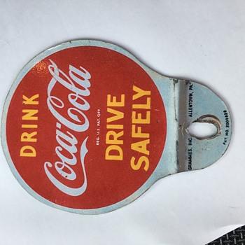 Coca-Cola License Plate Topper - Coca-Cola