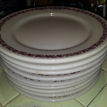 a stack of IROQUOIS CHINA diner plates  - China and Dinnerware