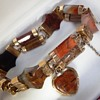 Antique Gold Scottish Agate Bracelet 14 - 18ct