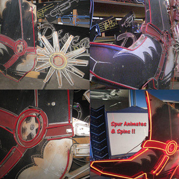 1970's Large Cowboy Boot with Animated Spur~ - Signs