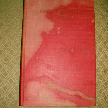 """Signed """"RIOTS AND RUINS"""" by Rev. Adam Clayton Powell, Sr. - Books"""
