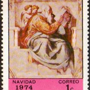 """1974 - Nicaragua """"Christmas"""" Postage Stamps - Stamps"""